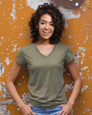 L77 – Women's V-neck t-shirt